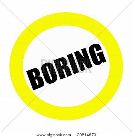 an images of BORING black stamp text on white