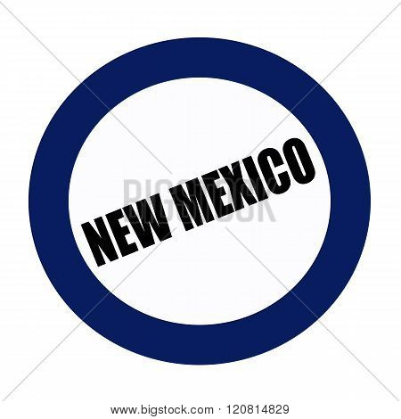 NEW MEXICO black stamp text on blueblack