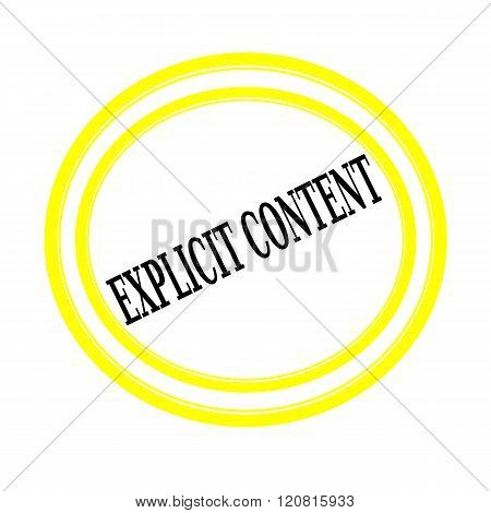 EXPLICIT CONTENT black stamp text on white backgroud