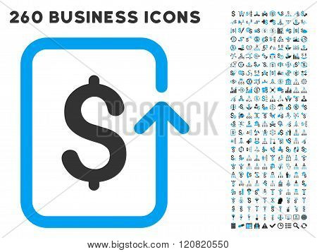 Reverse Transaction Icon with Flat Vector Set