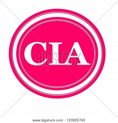 an images of Cia white stamp text on pink