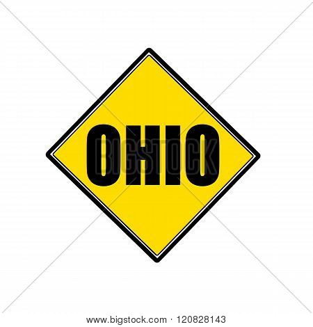 an images of Ohio black stamp text on yellow