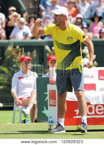 Australian Davis Cup Team Captain Llayton Hewitt During Davis C