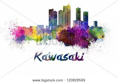 Kawasaki Skyline In Watercolor