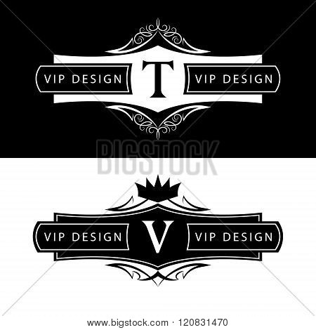 Monogram Design Elements, Graceful Template. Calligraphic Elegant Line Art Logo Design. Letter Sign