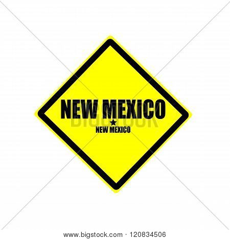 New Mexico Black Stamp Text On Yellow Background