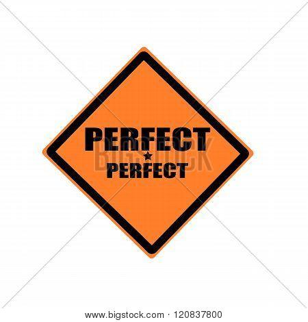 Perfect Black Stamp Text On Orange Background