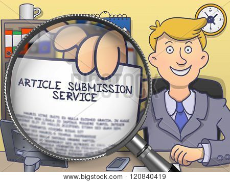 Article Submission Service through Magnifier. Doodle Style.