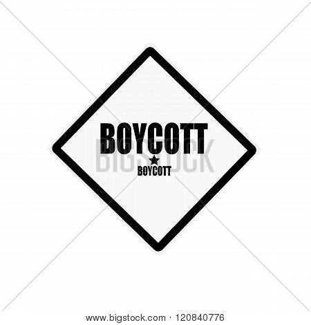 Boycott Black Stamp Text On White Background