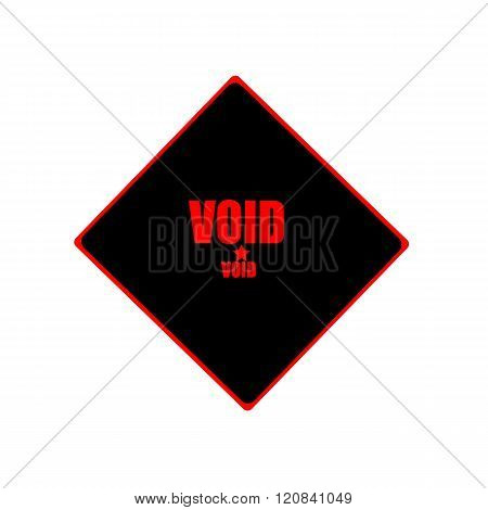 Void  Red Stamp Text On Black Background
