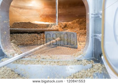 Open Furnace With Dried Seeds