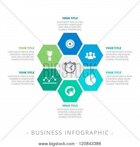 Hexagon Diagram Infographic Template