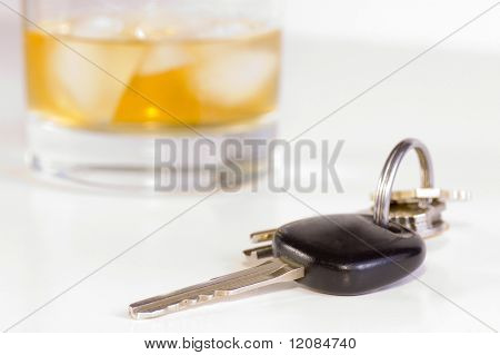 Car keys and drink; don't drink and drive
