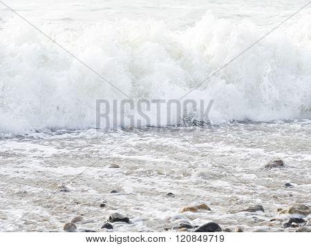 Sea ocean wave France Mancher