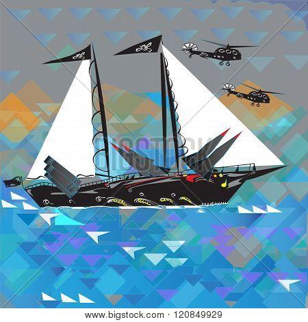 Funny Military Ship