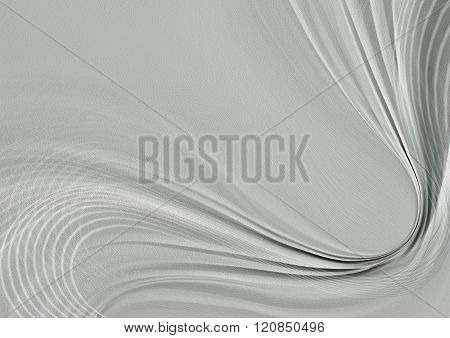 Transparent curved wave and intersecting thin white lines