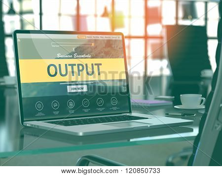 Laptop Screen with Output Concept.