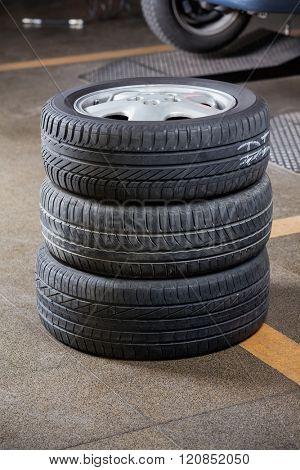 Tires At Garage