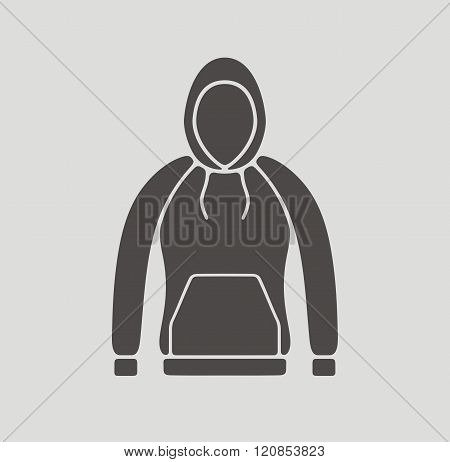 Vector illustration. Icon of a women's smock