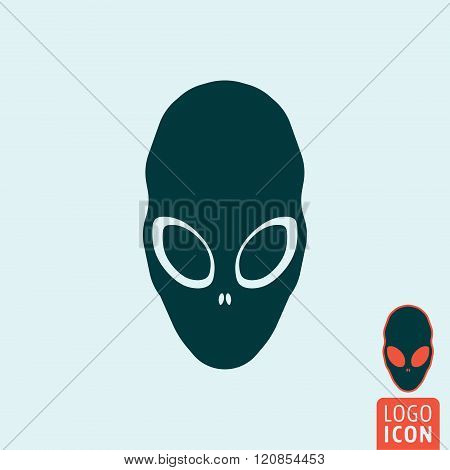 Alien Icon Isolated