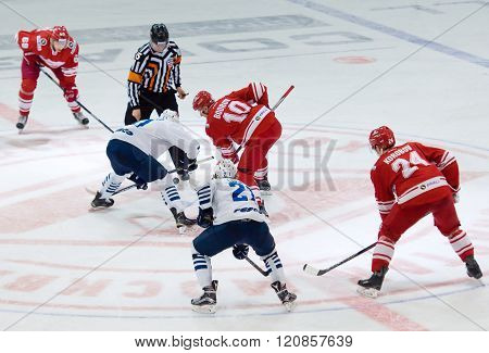 E. Bodrov (10) And M. Fisenko On Faceoff