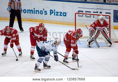 K. Glazachev (47) And E. Jakovlev (92) On Faceoff