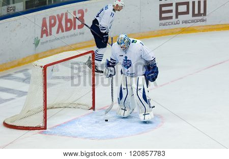 Dissapointed Goalkeeper I. Nalimov (1) On The Gate