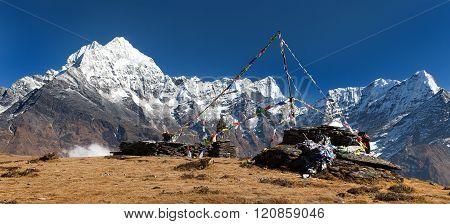 Thamserku, Mount Kyashar And Kusumkhang Karda