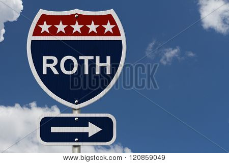 American Roth Highway Road Sign