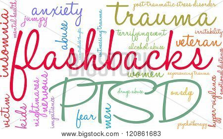 Flashbacks Word Cloud