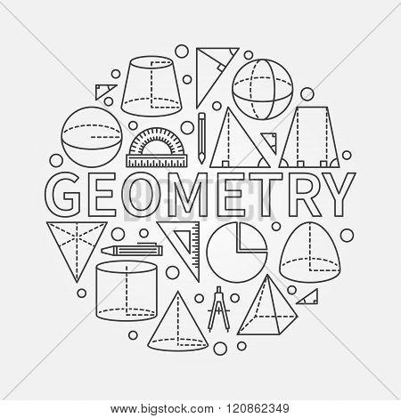 Geometry round symbol