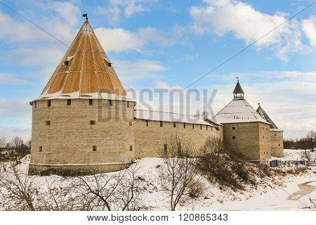 Staraya Ladoga Fortress With Three Towers.