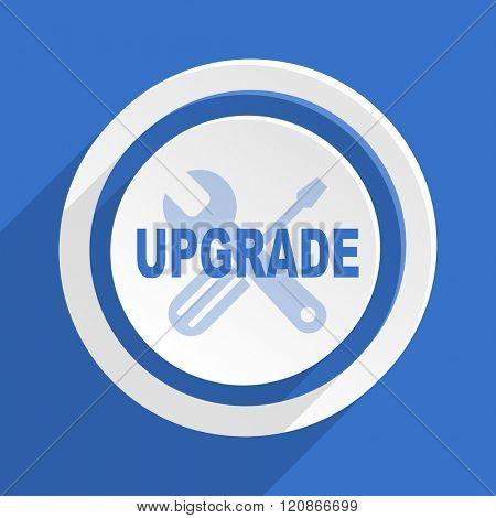 upgrade blue flat design modern icon