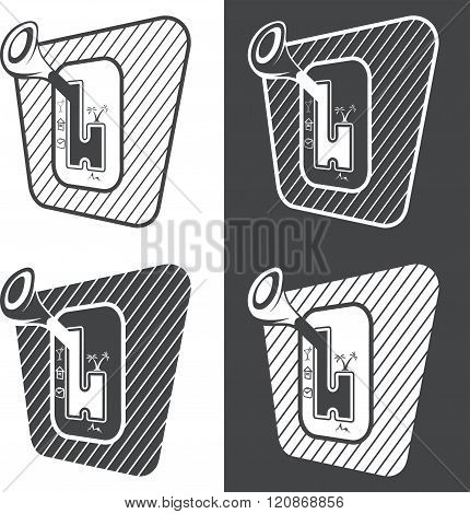 Automatic Transmission With Life Options Vector Design Template