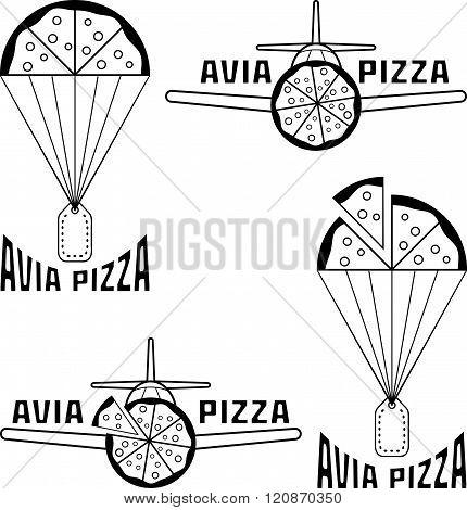 Avia Pizza Vector Illustration Concept . Concept Of Graphic Clipart Work