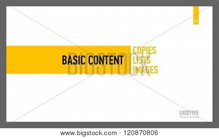 Basic Content Presentation Slide