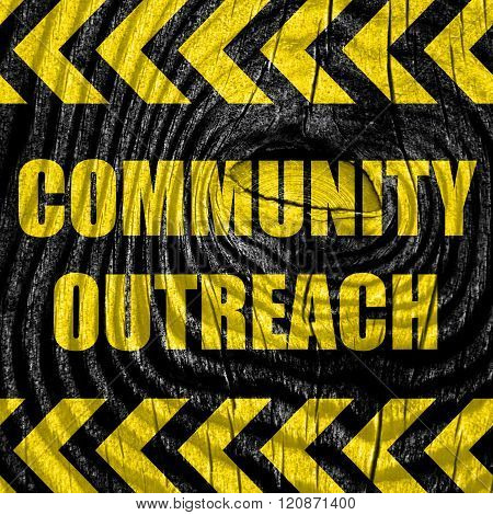 Community outreach sign