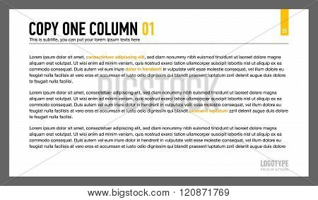 One Column Text Slide