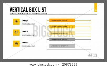 Vertical Box List Template