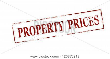 Rubber stamp with text property prices inside vector illustration