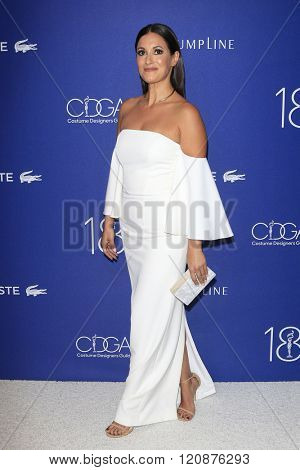 LOS ANGELES - FEB 23: Angelique Cabral at the 18th Costume Designers Guild Awards at the Beverly Hilton Hotel on February 23, 2016 in Beverly Hills, California