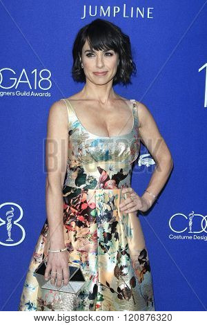 LOS ANGELES - FEB 23: Constance Zimmer at the 18th Costume Designers Guild Awards at the Beverly Hilton Hotel on February 23, 2016 in Beverly Hills, California