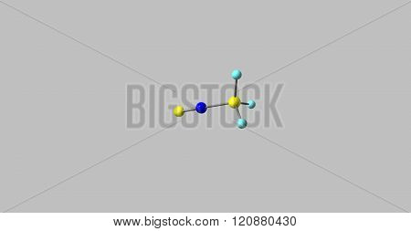 Methyl isocyanide or isocyanomethane is an organic compound and a member of the isocyanide family it is a colorless liquid. 3D illustration