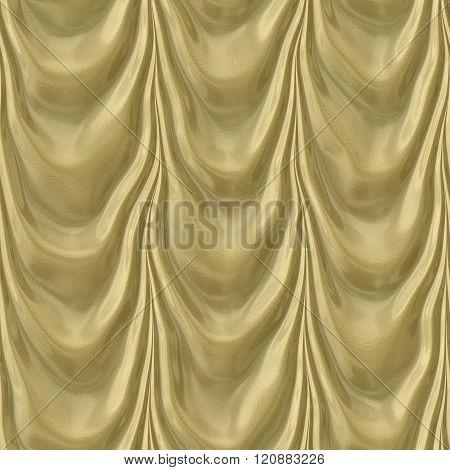 Pattern Of Seamless Gold Drapery