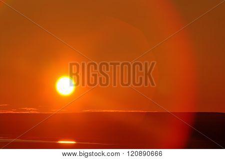 Midnight Sun During The Polar Day. August, Arctic. 75 Degrees North Latitud
