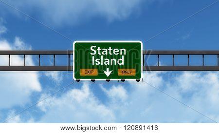 Staten Island Usa Interstate Highway Sign