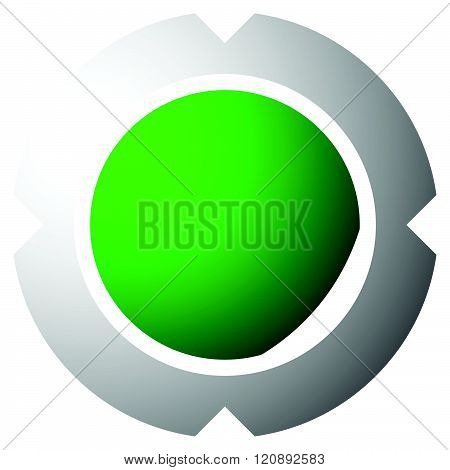 Abstract cross hair target mark graphic. Generic icon logo for accuracy precision targeting. poster