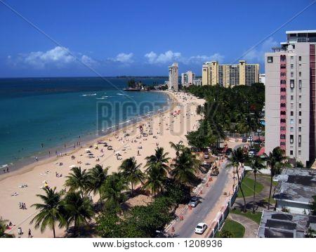 Isla Verde Beach, Old San Juan, Puerto Rico, Usa