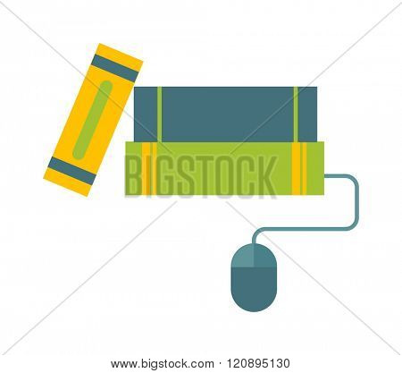 E-books concept vector illustration. E-books concept isolated on white background. E-books concept vector icon illustration. E-books concept isolated vector. E-books concept silhouette