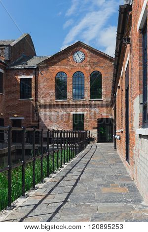Laverstoke Mill, England - May 2015: Photo Captured Of The Front Of The Bombay Sapphire Distillery